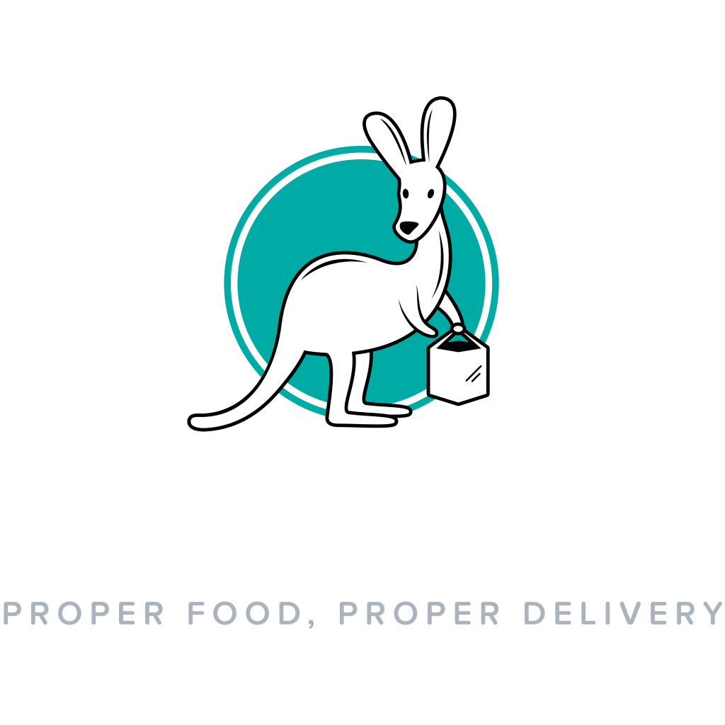 Deliveroo logo (reversed, text underneath, English tagline, 4000x4000px)
